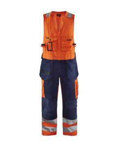 High vis sleeveless overall