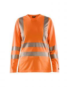 Ladies high vis t-shirt long sleeve